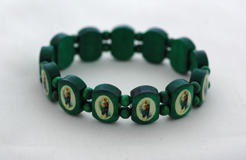 Brazilian Wood Bracelet-  St. Jude, Green