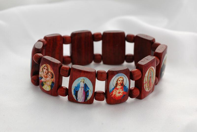Brazilian Wood Bracelet- Various Saints
