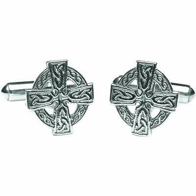 Sterling Silver Celtic Cross Cufflinks