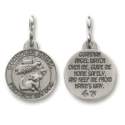 Guardian Angel Dog Pet Medal