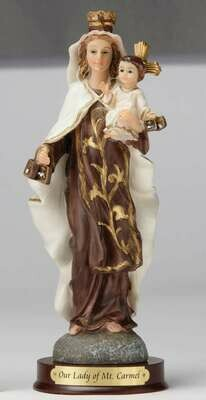 "8"" Our Lady of Mount Carmel Statue"