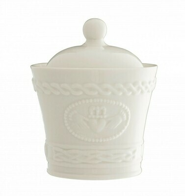 Belleek Claddagh Sugar / Condiment Bowl