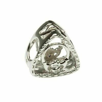 Diamond Set Claddagh Triangle