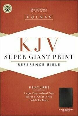 Super Giant Print Reference Bible-KJV