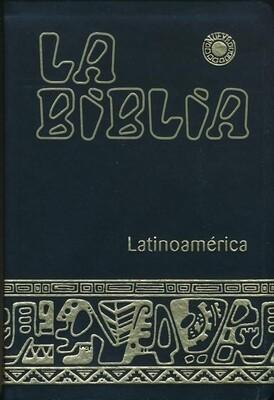 Biblia Latinoamerica, Tamano Mediano, Imitacion Piel, Negro