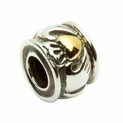 Claddagh- 14kt Gold Plate Bead