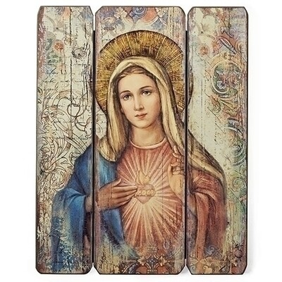 Immaculate Heart of Mary Decorative Panel
