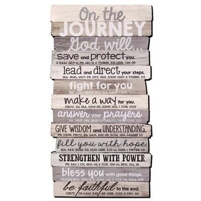 Journey Stacked Wood Plaque