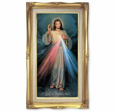 "Divine Mercy 11 1/4"" x 18 1/2"""