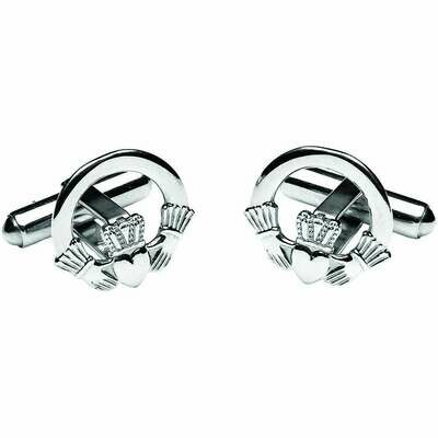 Sterling Silver Claddagh Cufflinks