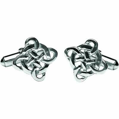 Sterling Silver Filigree Celtic Cross Cufflinks