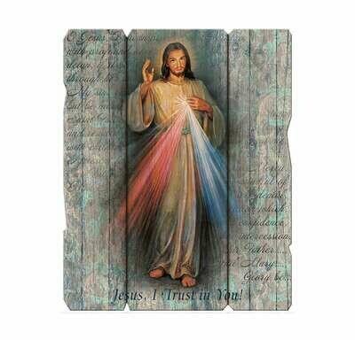 Divine Mercy Laser Cut Wooden Wall Plaque