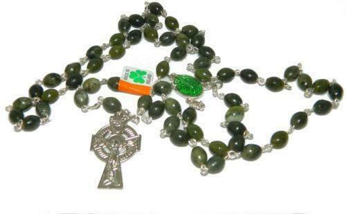 Connemara Marble Rosary- Oval Beads