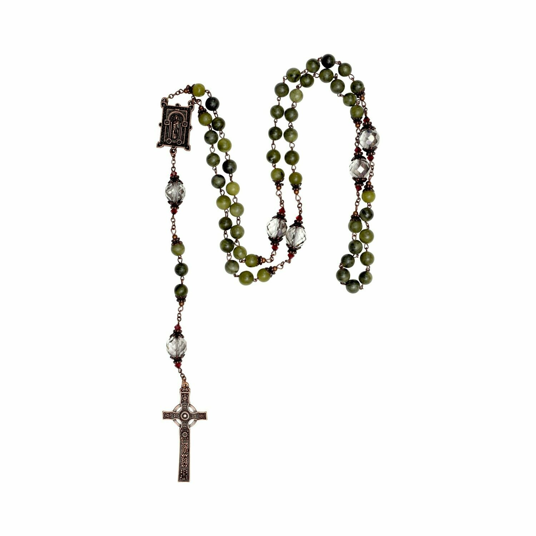 Book of Kells Connemara Marble Rosary Beads