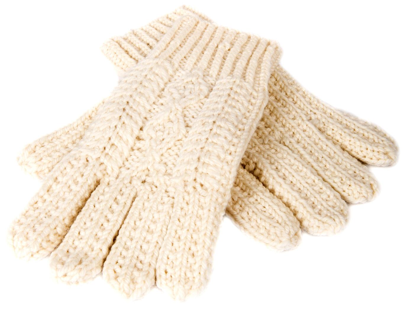 Adult Aran Handknit Gloves