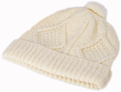 Child's Aran Handknit Ski Hat