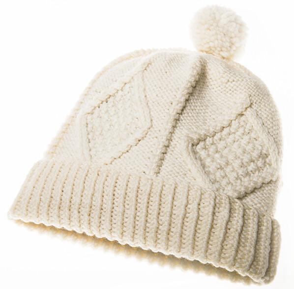 Adult Aran Handknit Ski Hat