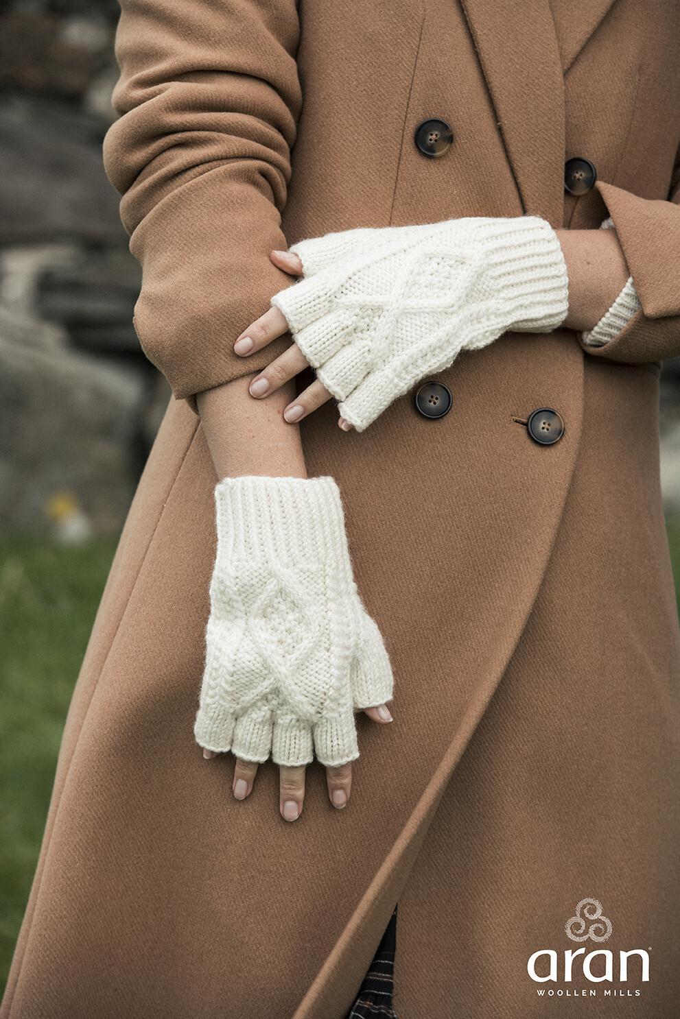 Adult Aran Fingerless Gloves