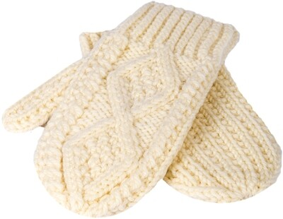 Child's Aran Handknit Mittens