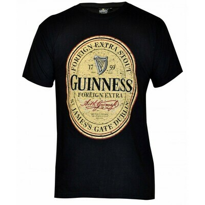 Guinness® Black Distressed English Label Tee