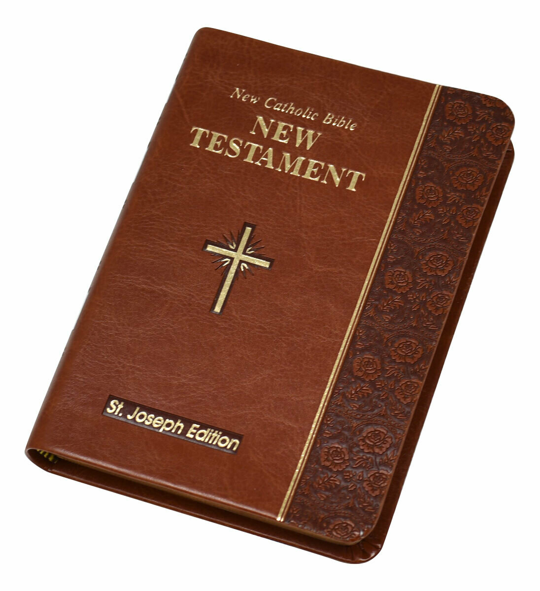 St. Joseph NCB New Testament (Vest Pocket Edition)- Brown Imitation Leather Cover