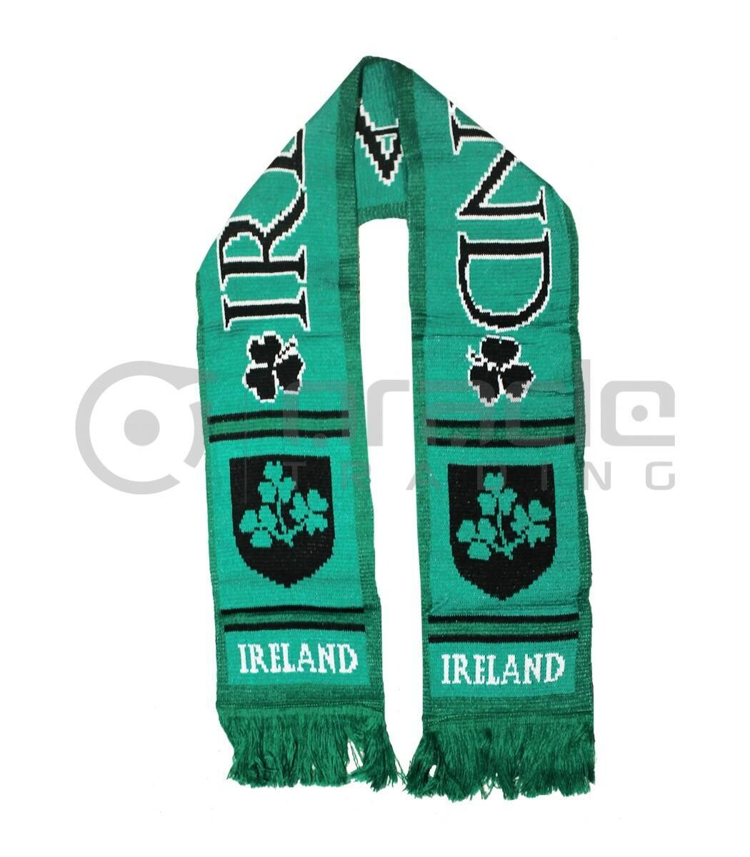 Ireland Knitted Scarf- Black and Green