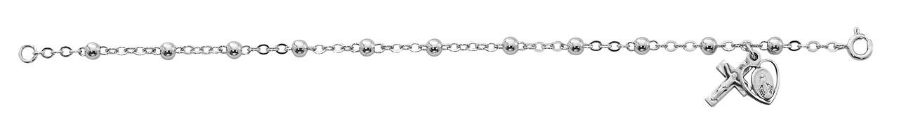 Adult All Sterling Silver Rosary Bracelet