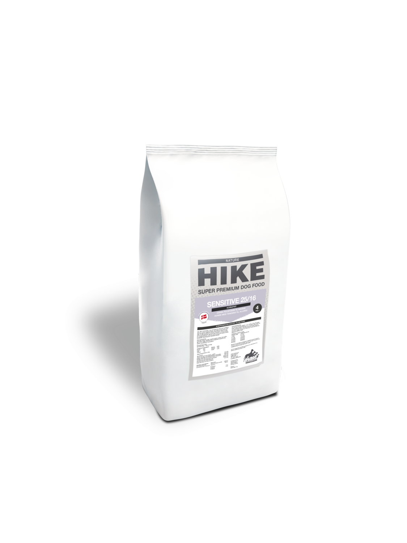 HIKE NATURE Sensitive 25/16 kornfri hundemad 4 kg