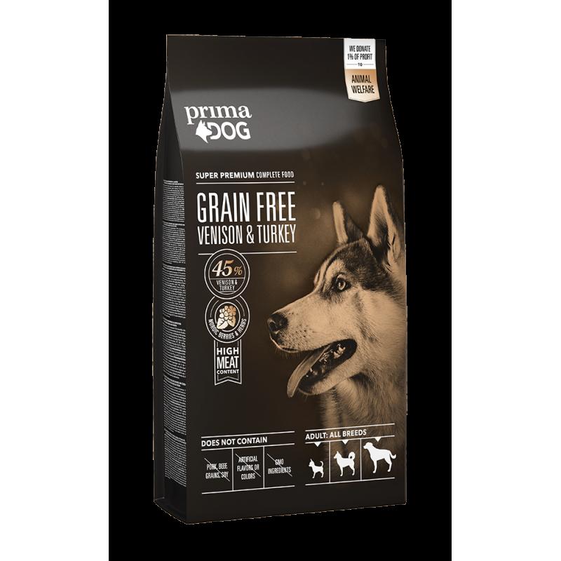 PrimaDog adult all breed kornfri vildtkød & kalkun 10kg.
