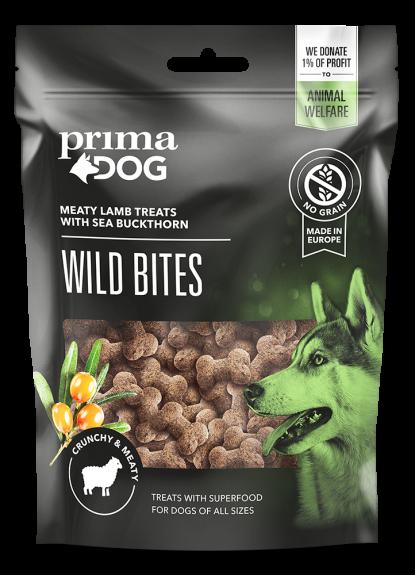 Primadog Wild bites m lam - 100g