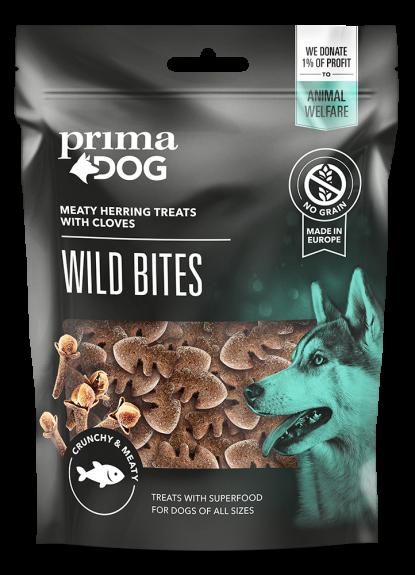 Primadog wild bites m sild - 100g - DATOVARE