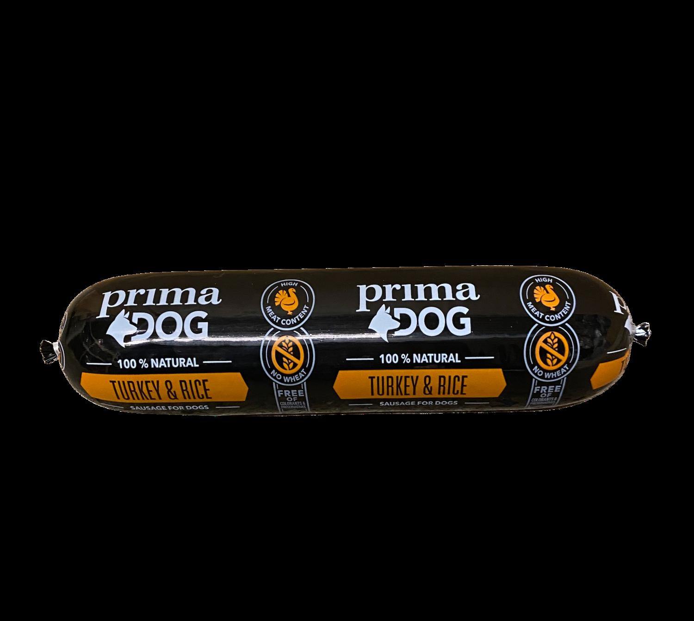 PrimaDog kalkun/ris pølse 800gr.