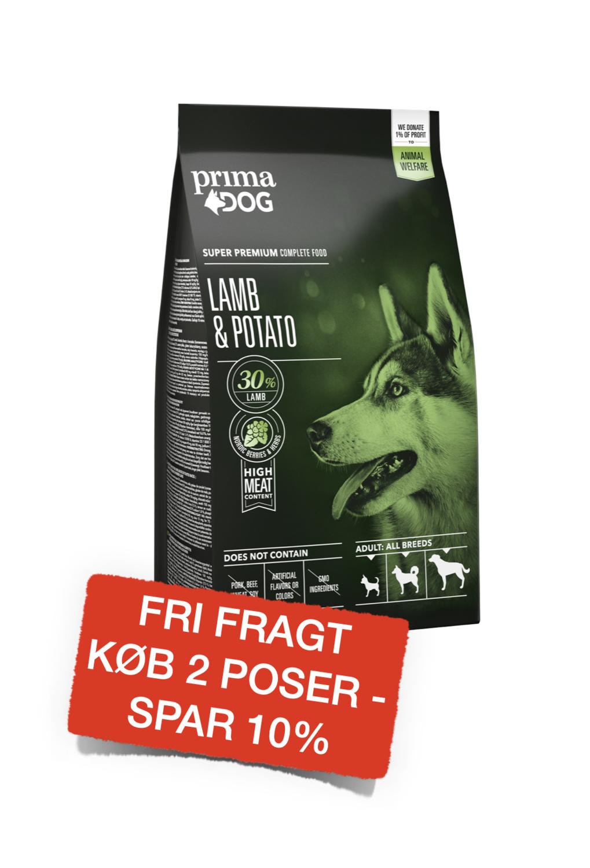 PrimaDog adult all breed lam & kartoffel 10kg.