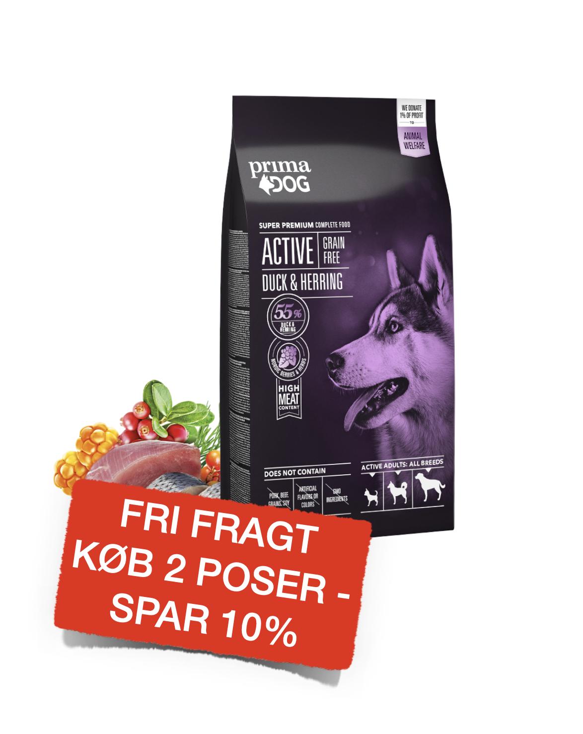 PrimaDog aktiv kornfri and & sild 10kg.