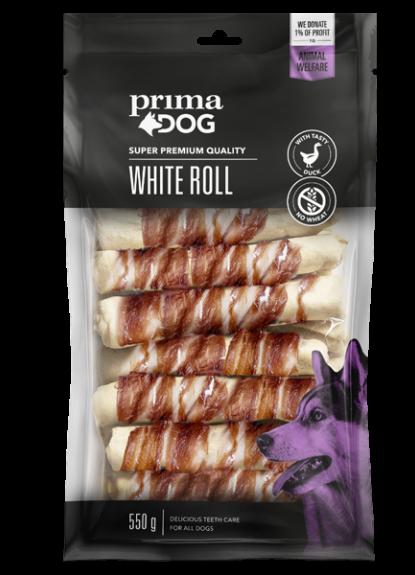 Primadog Hvid rulle med and - 550g