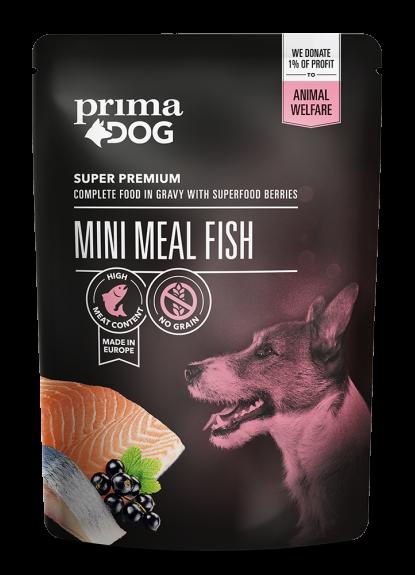 Primadog fiske måltid - 85g