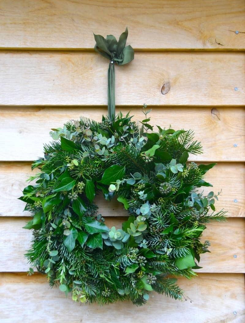 Natural Green Christmas Wreath
