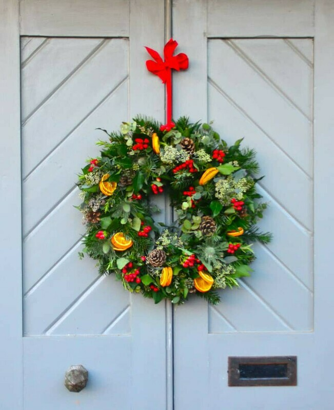 Traditional Red Christmas Wreath