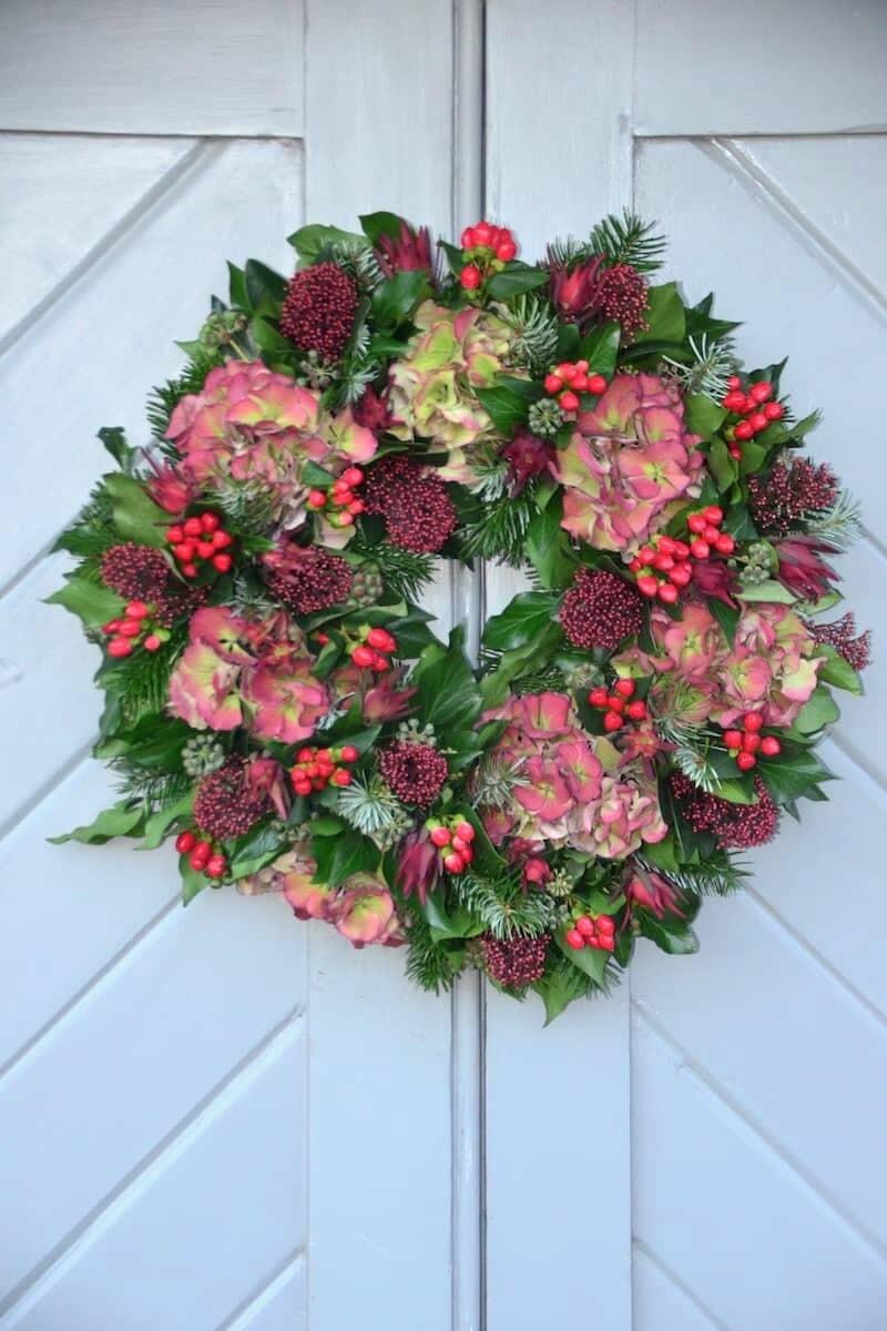 Luxury Fresh Floral Christmas Wreath