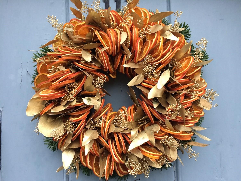 Bespoke Fresh Floral Christmas Wreath