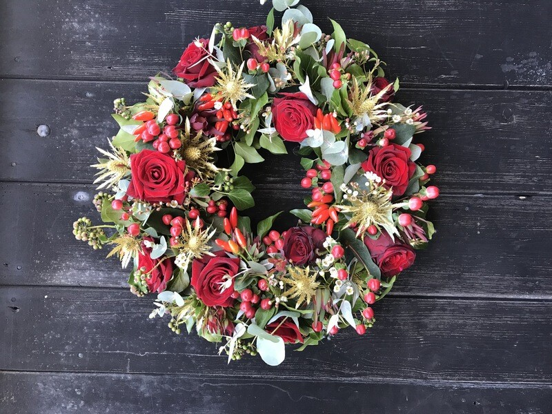 Bespoke Fresh Floral Christmas Wreath