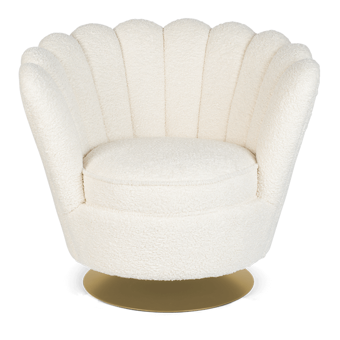 Teddy fabric Lounge Chair