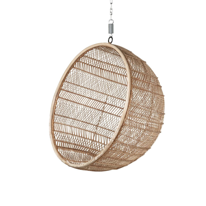 Rattan hanging bowl chair - natural bohemian