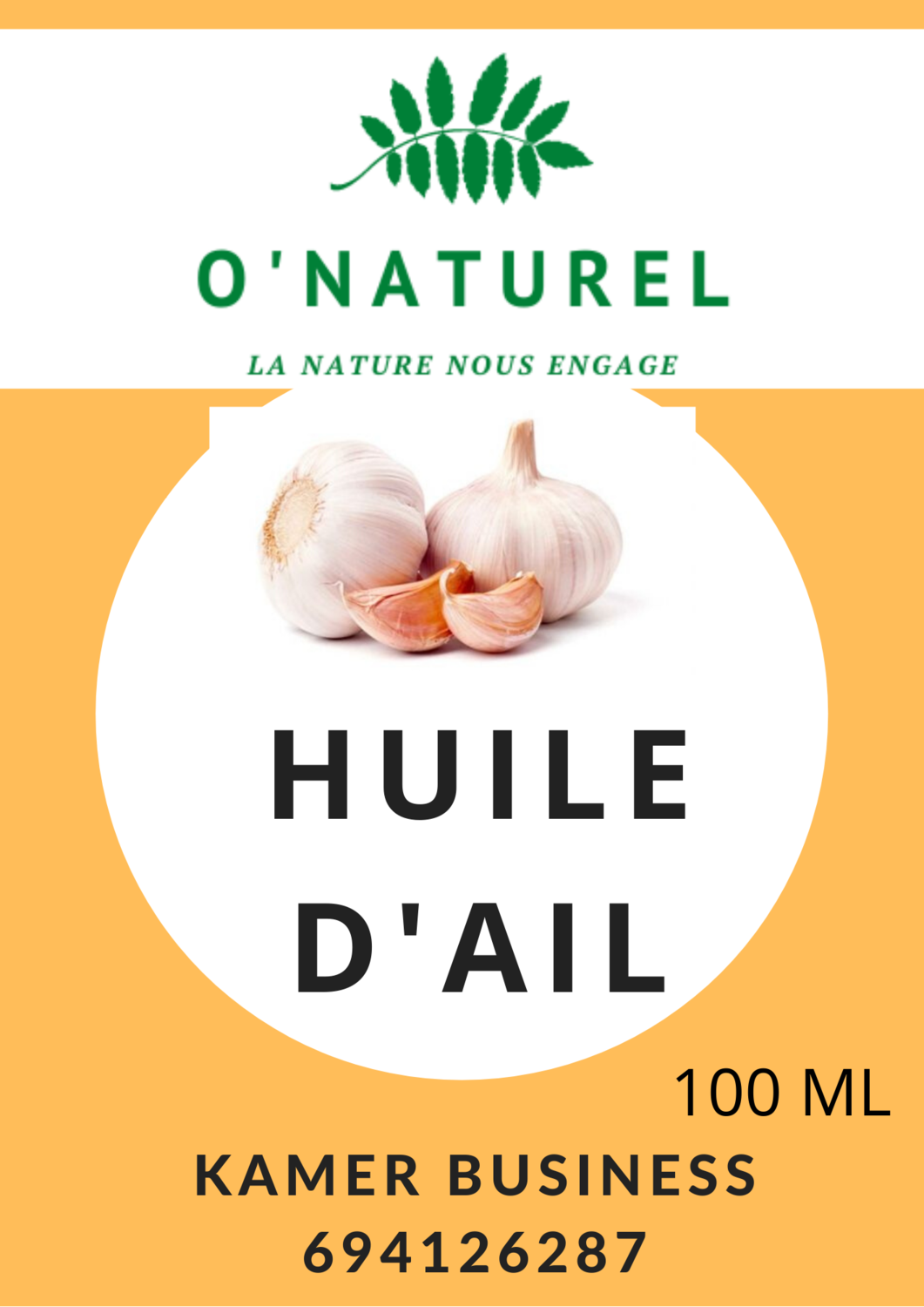 Huile d'Ail pure