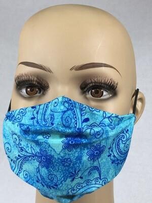 Masque vague bleu