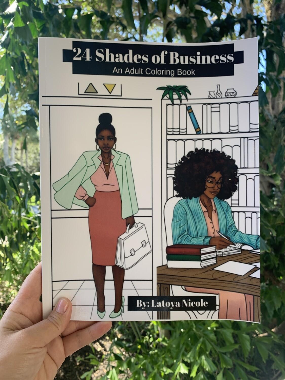 24 Shades Coloring Book