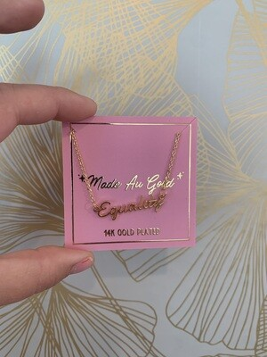 Equality Gold Plated Necklace