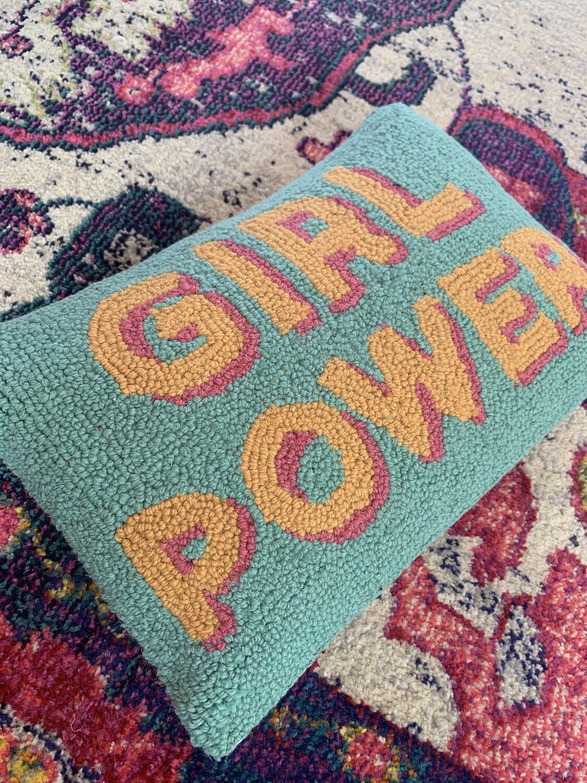 Girl Power Hook Pillow