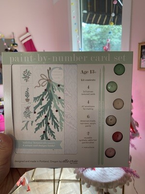 Holiday Botanicals - Paint by Number Card Sets Pastel