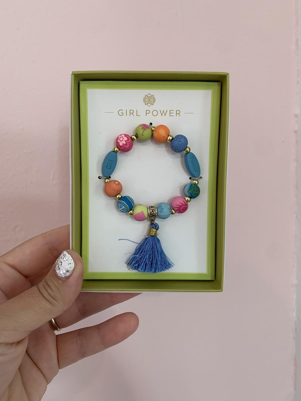 Girl Power Tassel Bracelet